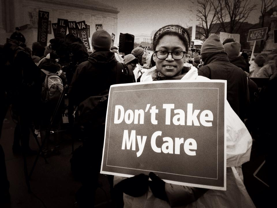 Imagen King vs Burwell - Rally in support of Obamacare - US Supreme Court
